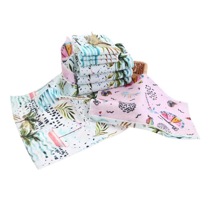 全棉定制数码双面印花小方巾