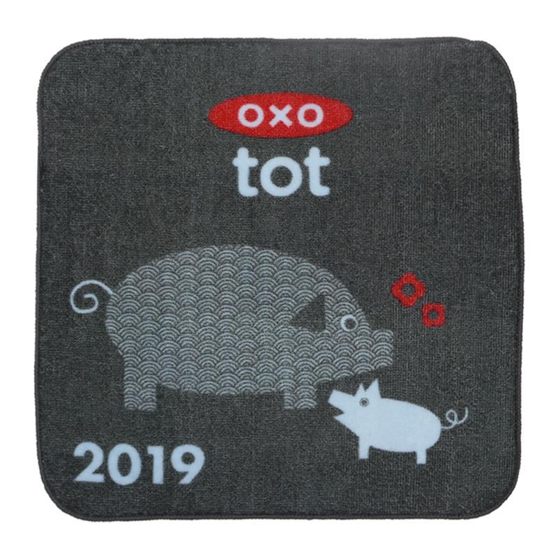 小猪猪卡通儿童口水巾印花方巾定制