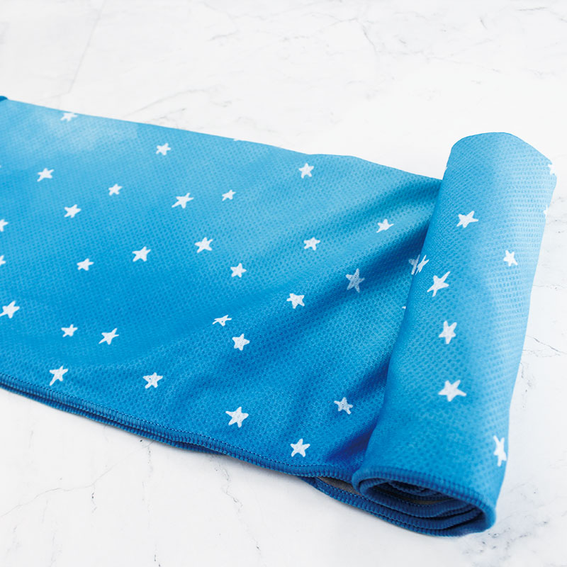 星光定制蓝色渐变吸汗降温冷冷感巾