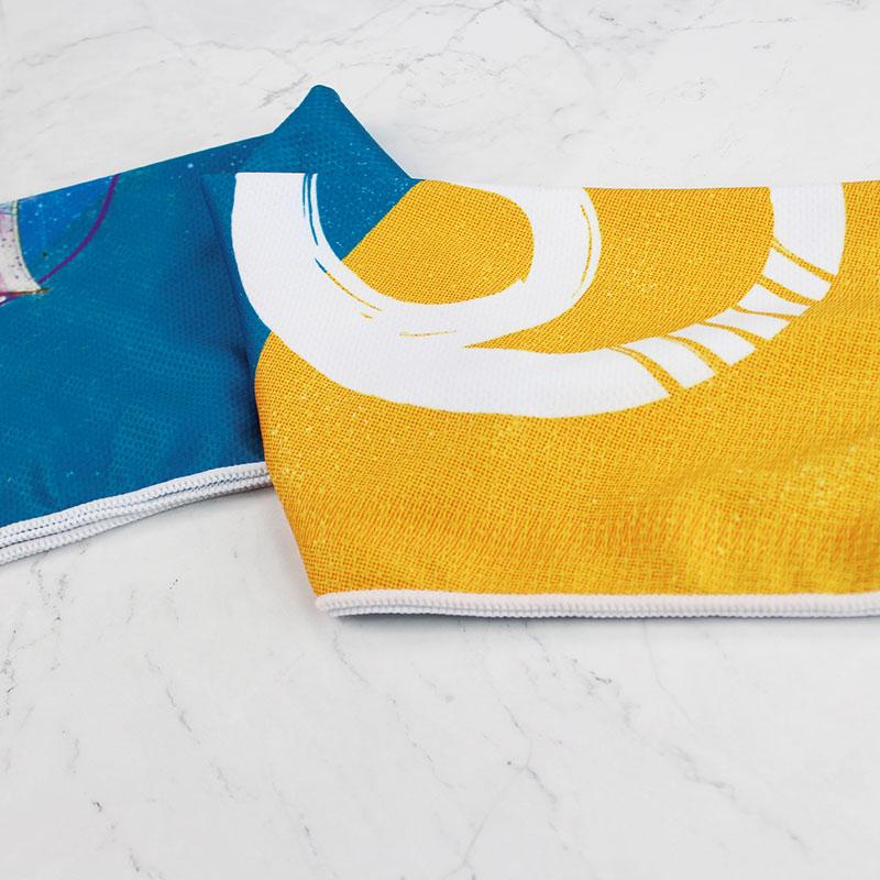 彩色定制蓝色吸汗降温冷冷感巾
