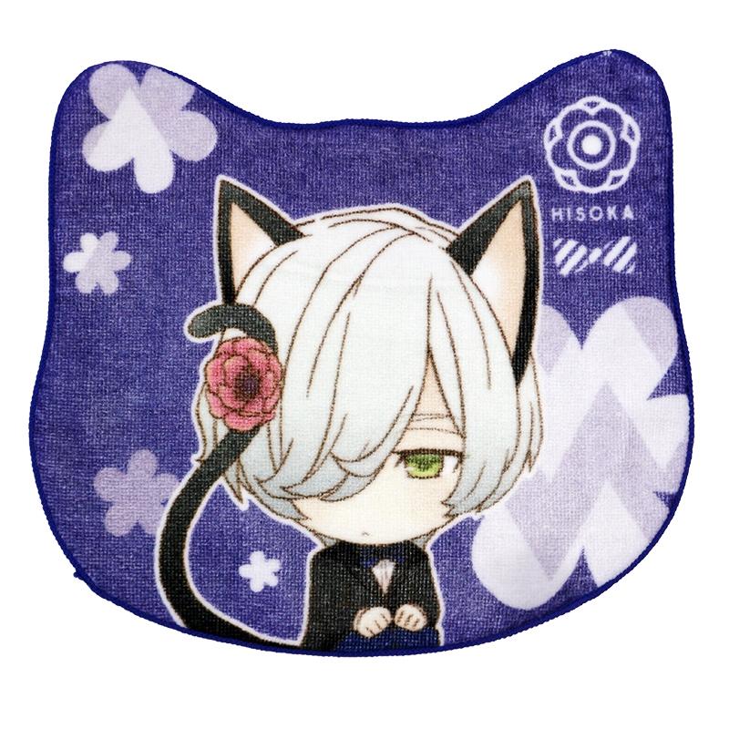 全棉数码印花定制猫耳异形方巾