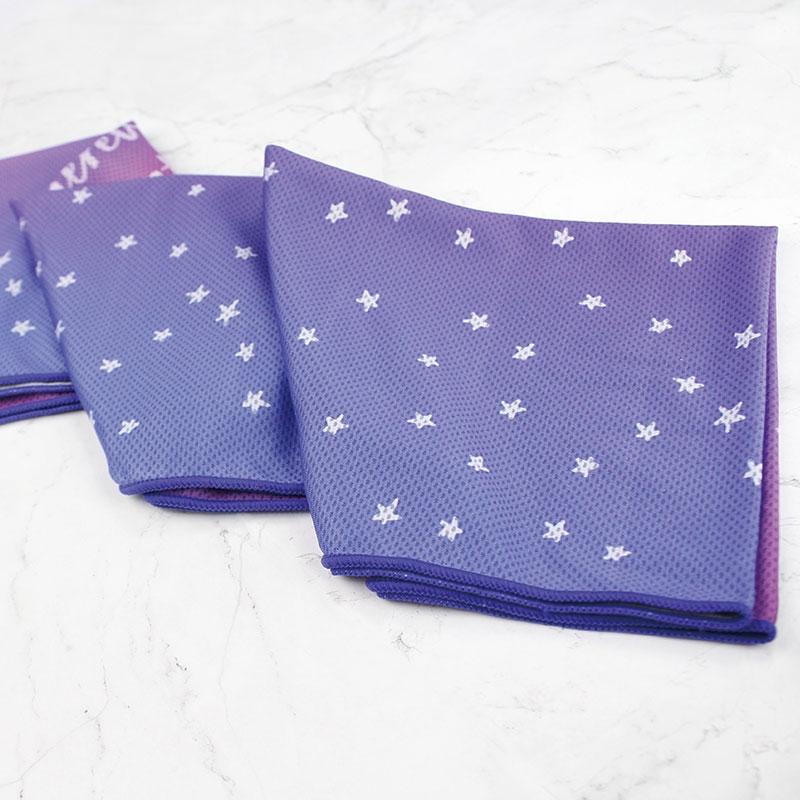 定制星星渐变吸汗降温冷冷感巾