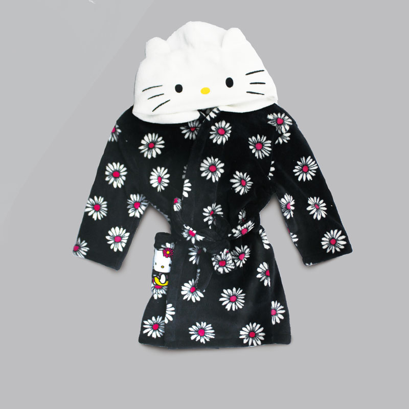 超细纤维定制绣花提花动漫图案浴裙