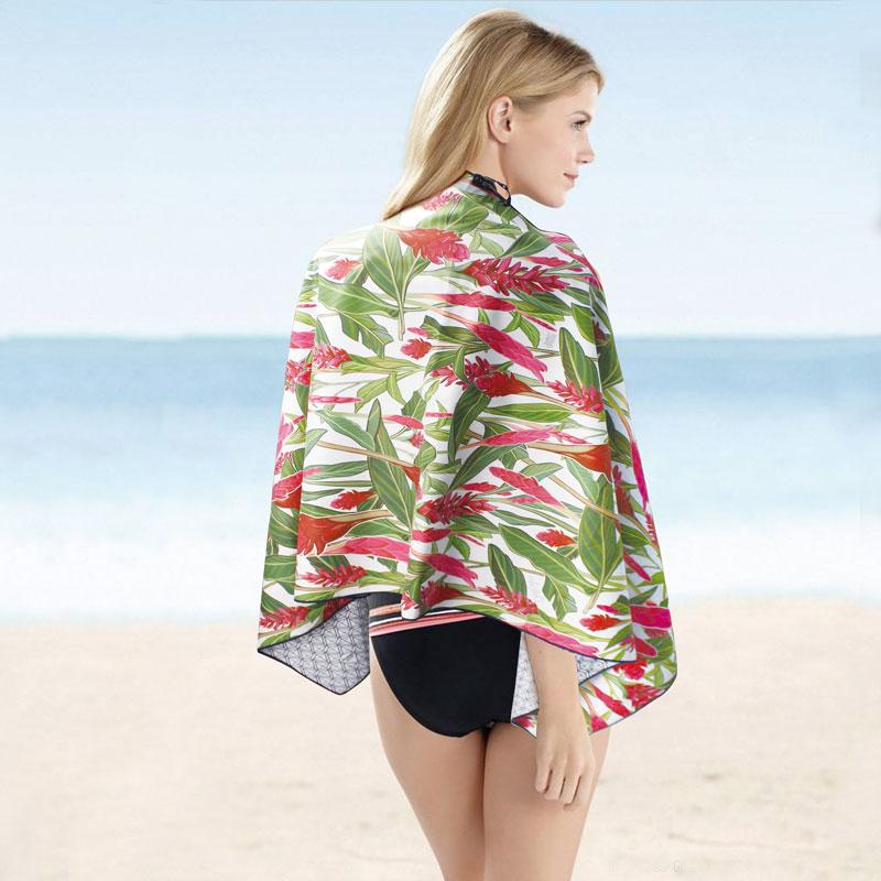 全棉数码印花定制色彩图案花型沙滩巾