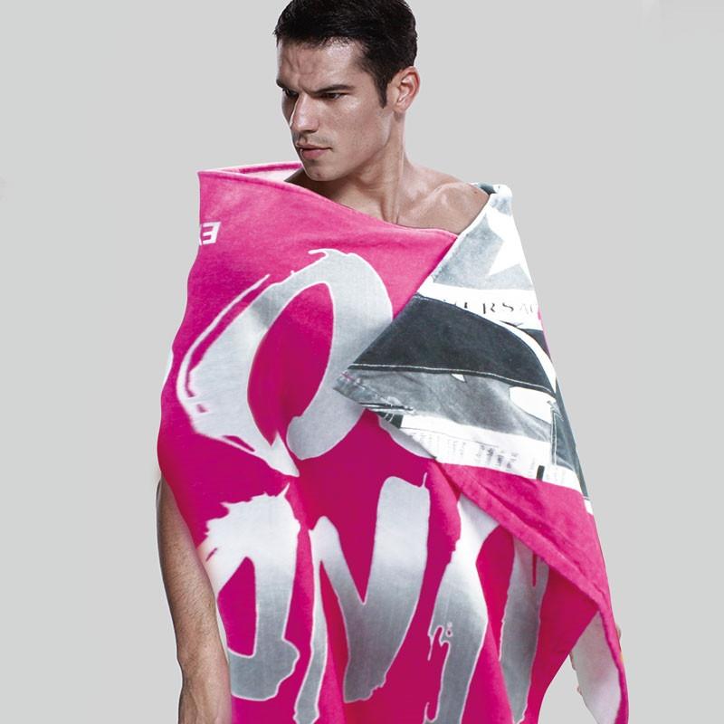 全棉数码印花人像字母图案定制沙滩巾