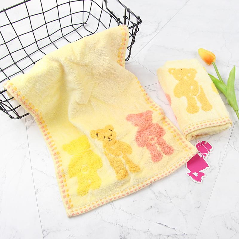 毛巾厂家定制棉系小熊提花面巾