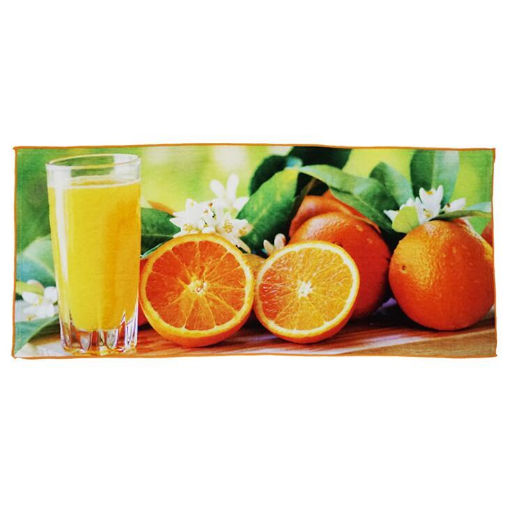 厂家来图定制橘子棉质数码印花毛巾