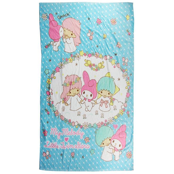 日系风可定制毛巾工厂直供条纹棉质活性印花沙滩巾浴巾