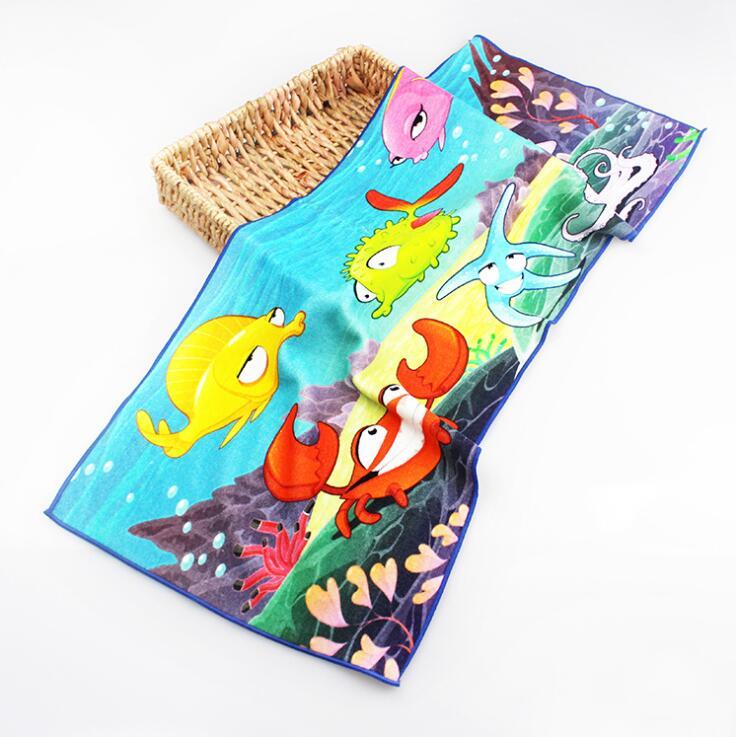 定制毛巾厂家棉质数码印花面巾广告礼品毛巾卡