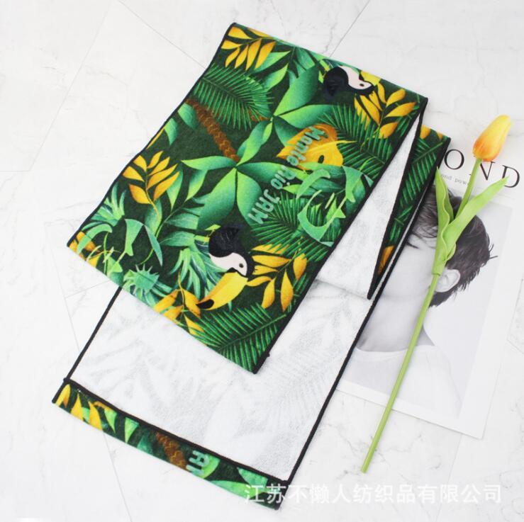 毛巾工厂加工定制出口棉质数码印花运动巾