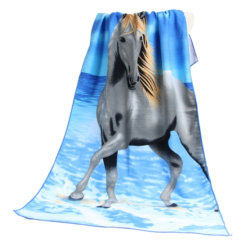 南通毛巾厂家直销超细纤维印花大浴巾