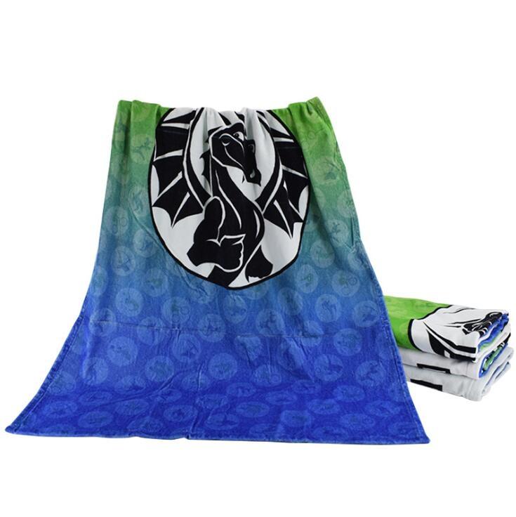 毛巾厂家定制直销棉系数码印花加大加厚大浴巾