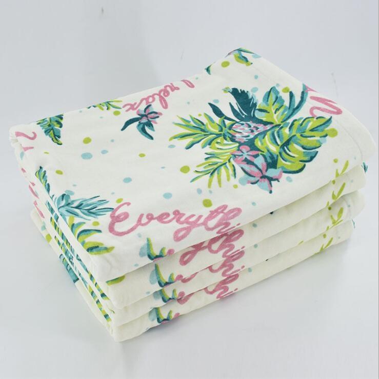 毛巾生产厂家直销花朵数码印花吸水吸汗浴巾