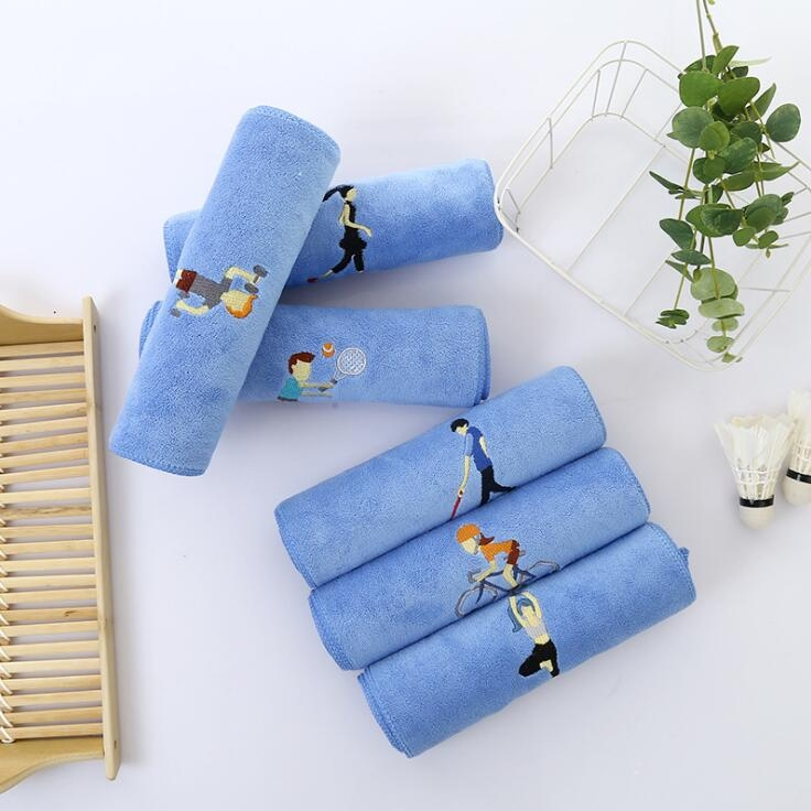 毛巾厂家健身运动聚酯纤维跑步瑜伽轻柔吸汗定制毛巾