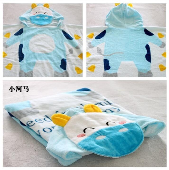 毛巾厂家棉质数码印花卡通图案儿童沙滩游泳斗篷定制